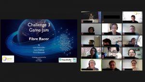 Teilnehmenden den virtuellen Photonics Days in einer Videokonferenz