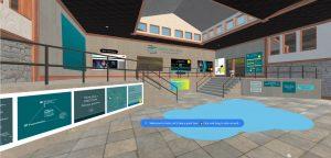 Virtuelle Halle mit Aushängen von der Max Planck School of Photonics.